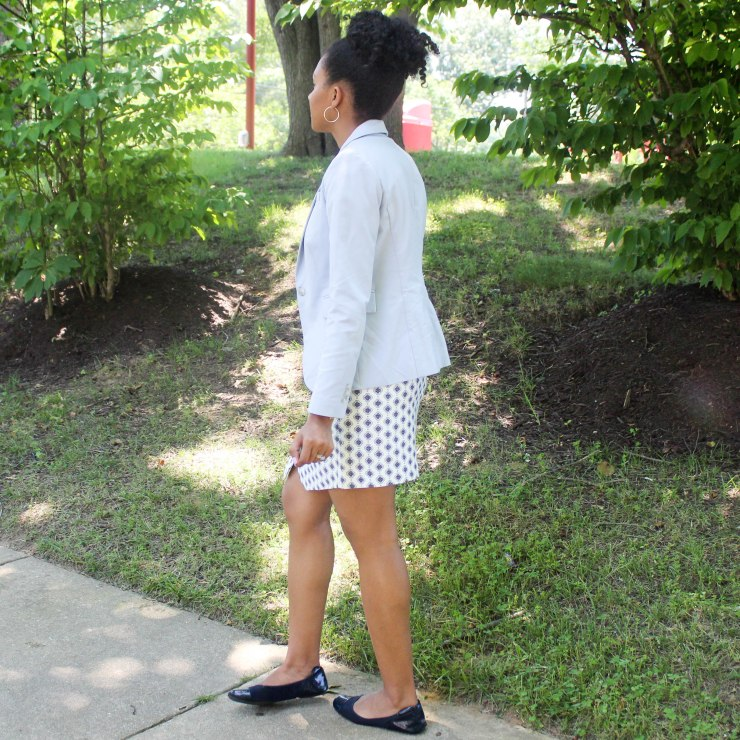 Ann Taylor Loft Skirt and Navy Top-4