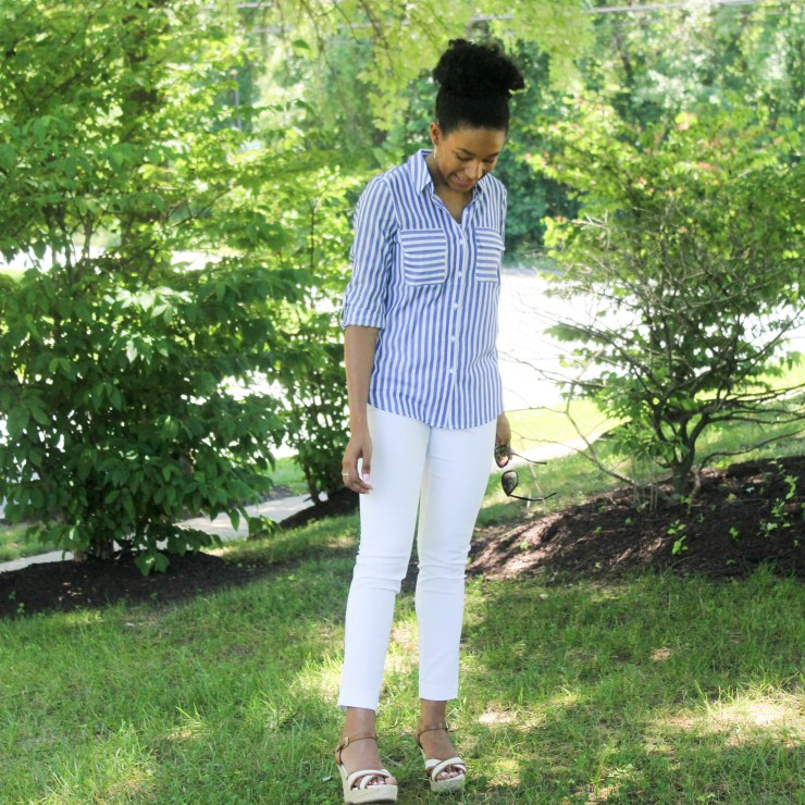 Express Top BR White Pants