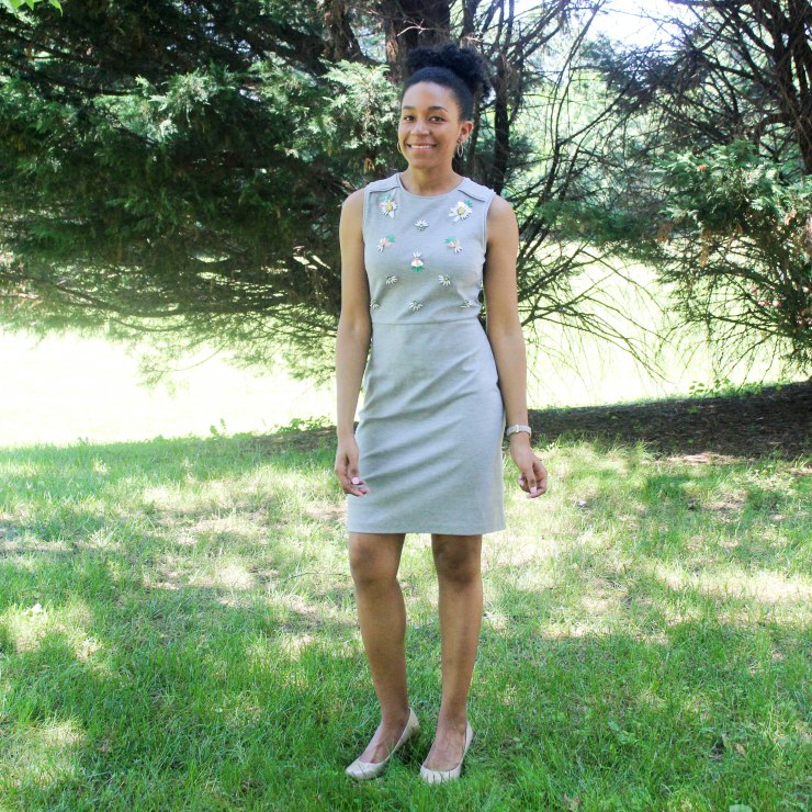 Gray Jewel Dress